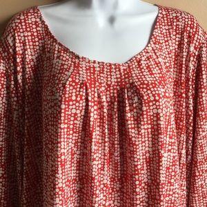 Ruby Road  polka dot pullover blouse.
